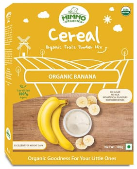 Mimmo Organics Organic Banana powder 100% certfied Organic; No Sugar;No Milk 100 g ( Pack of 1 )
