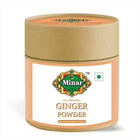 Minar 100% Natural & Pure Dried Ginger Powder  100gm (Pack of 1)