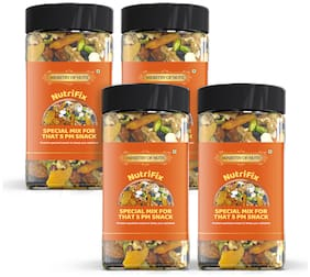 Ministry Of Nuts Pack Of 4 Nutrifix Special Mix For 5PM Snacks Trailmix, Protein Packed Evening Snacks with Healthy Fibre