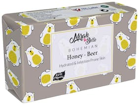 Mirah Belle Organic and Natural Honey Beer Conditioning Soap Bar 125g (Pack of 3)