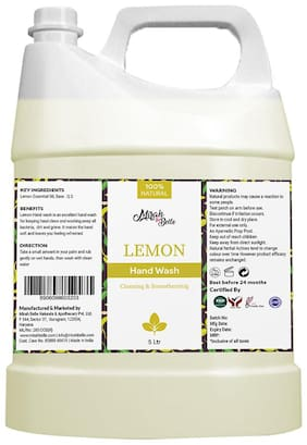 Mirah Belle - Lemon Hand Wash Can Fda Approved - Bulk Pack For Refill - Best For Men, Women And Children - Sulfate And Paraben Free - 5L