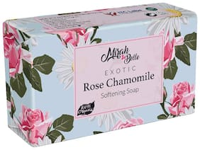 Mirah Belle - Rose, Chamomile Dry Skin Soap (125 g)- Pack of 3 - Organic and Natural - For Dry & Cracked Skin. Helps makes Skin Soft & Smooth. Vegan, Handmade, Cruelty Free, SLS, Paraben, GMO-Free.