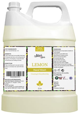 Mirah Belle - Lemon Hand Wash Can Fda Approved - Bulk Pack For Refill - Best For Men, Women And Family - Sulfate And Paraben Free - 2L