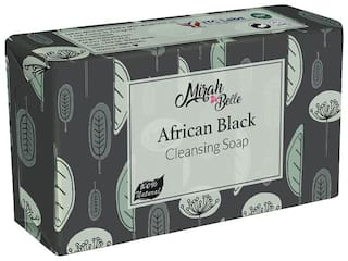 Mirah Belle Organic and Natural Black African Soap Bar 125g (Pack of 3)