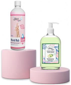 Mirah Belle - Hand Rub Sanitizer (500 ml) and Green Apple Hand Wash (250 ml)