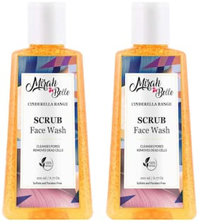 Mirah Belle Organic and Natural Scrub Face Wash 200ml (Pack of 2)
