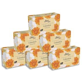 Mirah Belle Organic Coconut Milk Calendula Healing Soap Bar 125g (Pack of 6)