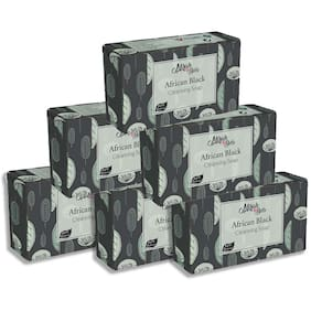 Mirah Belle Organic Black African Soap Bar 125g (Pack of 6)