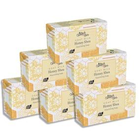 Mirah Belle Organic Goat Milk Honey & Shea Butter Sensitive Skin Soap Bar 125g (Pack of 6)