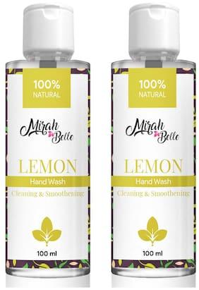 Mirah Belle Natural Lemon Hand Wash 100ml (Pack of 2)
