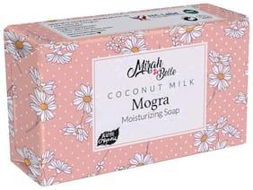 Mirah Belle - Coconut Milk, Mogra Dry Skin Soap (125 g) - Dry, Damaged, Flaky Skin. Vegan, Handmade, Cruelty Free, SLS, Paraben, GMO-Free.