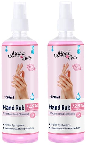 Mirah Belle  Hand Rub Sanitizer Spray 120 ml (Pack of 2)