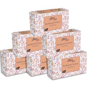 Mirah Belle Organic Sandalwood Turmeric Healing Soap Bar 125g (Pack of 6)