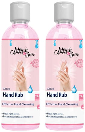 Mirah Belle Hand Sanitizer Gel 72% Alcohol100 ml ( Pack of 2 )