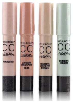 Miss Rose Combo of 4 Different Use Color Correctors 2.5 g Pack of 4