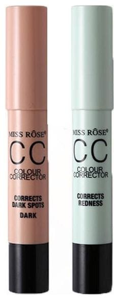 Miss Rose Combo of 2 Color Correctors(Dark Spots and Redness) 2.5 g Pack of 2