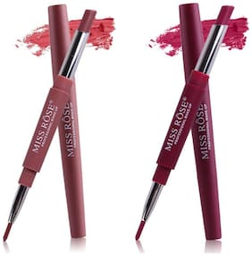 Miss Rose Combo of 2 Lip Liner Plus Lipsticks( Shade 1 and 5) 2.5 g Pack of 2