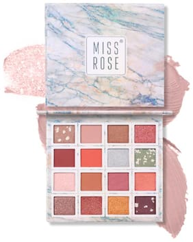 Miss Rose Face Secret Pigmented Matte and Shimmer Warm Colors Stylish Blendable Eye Shadow Waterproof MakeUp Charming Face Palette  .7001-011M1