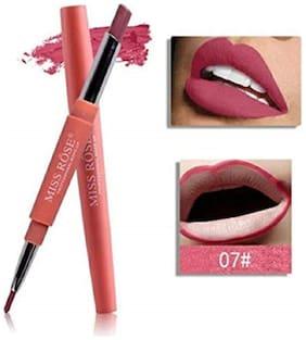 Miss Rose High Pigment Lipliner 2In1 Lipstick 2.1 g, Mr-7 Violet Fatale (Pack Of 1)