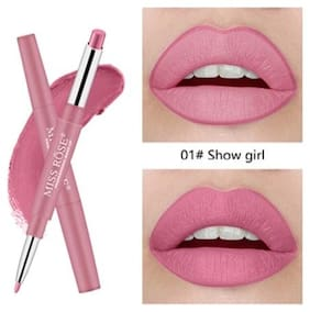 Miss Rose High Pigment Lipliner 2In1 Lipstick 2.1 g, Mr-1 Showgirl (Pack Of 1)