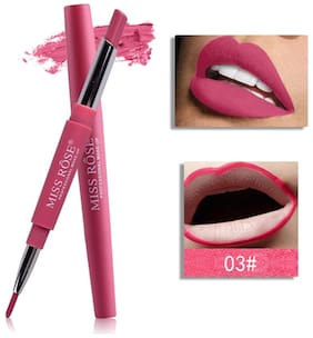 Miss Rose High Pigment Lipliner 2In1 Lipstick 2.1 g, Mr-3 Flash Of Pink (Pack Of 1)