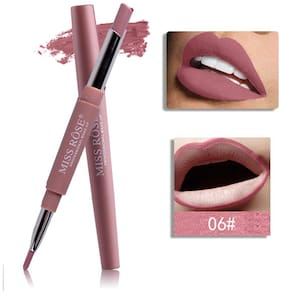 Miss Rose Lip Liner Plus Lipstick Shade#6 2.5 g Pack of 1
