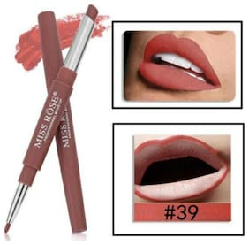 Miss Rose Lip Liner 2 in 1 Lipstick 2.1g Burgundy