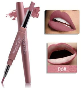 Miss Rose Lip Liner 2 in 1 Lipstick 2.1gm Nude