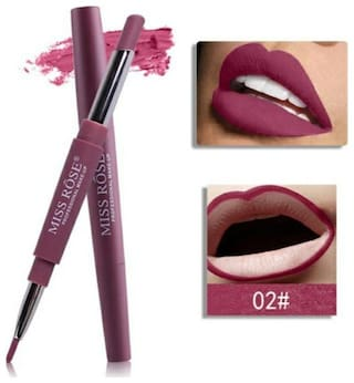 Miss Rose Lip Liner 2 in 1 Lipstick 2.1gm Maroon