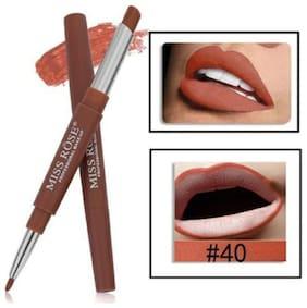 Miss Rose Lip Liner 2 in 1 Lipstick 2.1g Coffee Brown