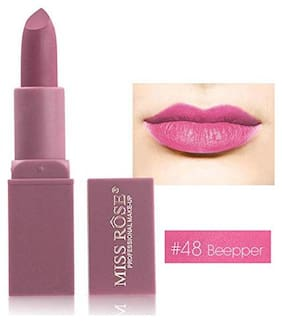 Miss Rose  Matte Nutritious Long Lasting And Waterproof Lipstick Pink;3.4g