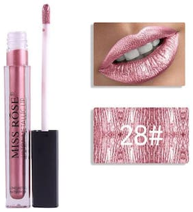 Miss Rose Professional Make-Up Ultra Metallic Lipgloss (Waterproof, Longlasting) 5ml