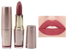 Miss Rose Professional Make-Up Metalic Lipstick Matte Color (Maroon) 3.6g