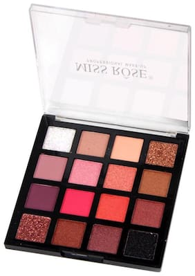 Miss Rose Professional Cosmetics shiny and shimmer Colors EyeShadow palette.