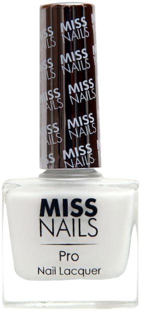 MISSNAILS Long Stay & Quick Dry Nail Polish (White) 10 ml