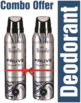 Mistpoffer Fauve Perfumed Deodorant Body Spray Combo Offer for Men 150 ml Each Pack of 2