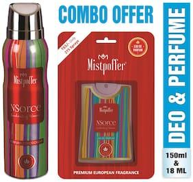 Mistpoffer NSorce Perfumed Deodorant Body Spray 150ml + Mistpoffer NSorce Pocket Perfume 25ml Combo Offer For Women Pack of 2