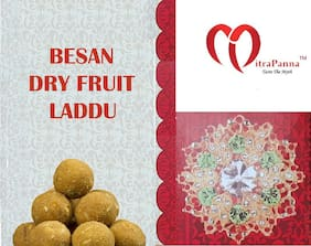Mitra Panna Besan Dry Fruit Laddu (Shudh DESI GHEE Se Nirmit)  800 g Pack of 1