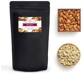 MM Nuts California Almonds: 100 g,Cashew Whole 100 g Pack of 2