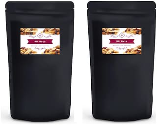 MM Nuts Combo California Almonds(Badam) 500g  and  Roasted and Salted Pistachios (Pista) 500g (Pack of 2)