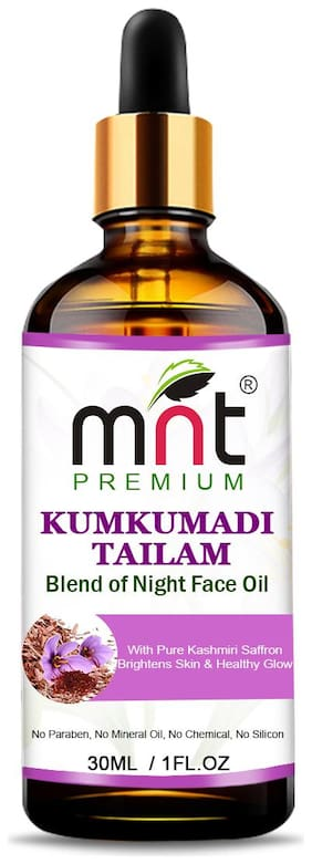 MNT Kumkumadi Tailam With Pure Kashmiri Saffron (30ml) For Brightens Healthy & Glowing Skin