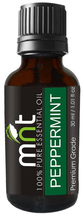 MNT Peppermint Essential Oil (30Ml) 100% Pure, Undiluted & Natural Therapeutic Grade - For Aromatherapy, For Skin & Muscles