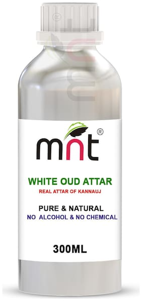 MNT White Oud Attar For Unisex Long Lasting & Alcohol Free (300ml)