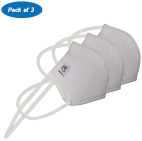 Mobius M7 Pro Unisex 7 Layered Reusable Mask White Small Size Pack of 3