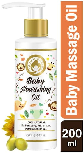 Mom & World Baby Nourishing Oil For Baby Massage - 200ml (With 100% Pure Oils)