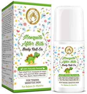 Mom & World Baby Mosquito Repellent After Bite Roll On 50ml - 100% Naturally Derived