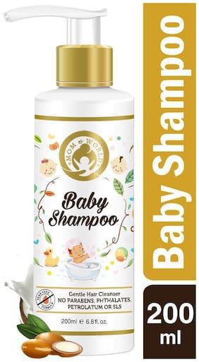 Mom & World Tear Free Baby Shampoo -200ml - With Organic Moroccan Argan Oil & Oats Extract - No SLS / Paraben