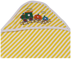 MomToBe Yellow Stripes Hooded Terry Cotton Baby Towel