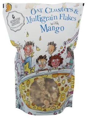 Monsoon Harvest Breakfast Cereal - Oat Clusters & Multigrain Flakes, With Mango 350 gm