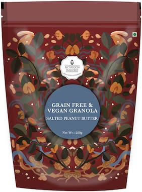 Monsoon Harvest Grain Free & Vegan Granola Salted Peanut Butter 250 g